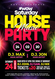 House Party 2 Free Psd Flyer Template Free Psd Flyer