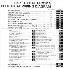 1997 toyota tacoma pickup wiring diagram manual original