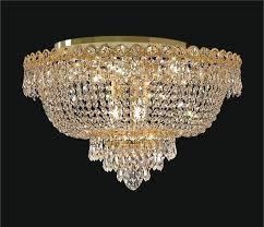 gold plated crystal flush mount basket chandelier intended for ceiling light spectacular square mo