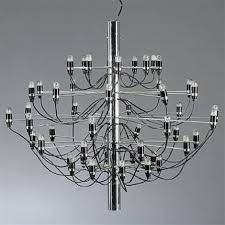 chandelier with 50 lights model 2097 50 by gino sarfatti