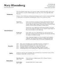 Simple Free Resume Template Simple Resume Template Free Simple ...