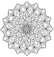 Mandala Fleur Avec Feuilles Mandalas Coloriages Difficiles