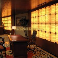 fully lit faux onyx reception desk