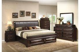 espresso king size bedroom sets ideas with leather headboard