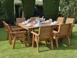 square garden dining set 8 seater 168cm