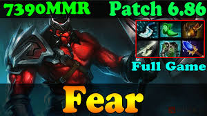 dota 2 patch 6 86 fear 7300 mmr plays axe full game ranked