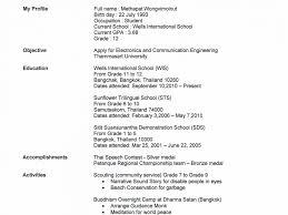 Sample Resume For High School Student   haadyaooverbayresort.com