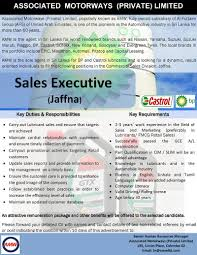 s executive lubricants jaffna job vacancy in sri lanka associated motorways private limited is the sole agent in sri lanka for bp and castrol lubricants and is looking for a dynamic result oriented