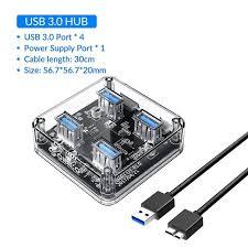 <b>Orico</b> Transparan Series USB HUB Multi <b>4 7 Port</b> Kecepatan Tinggi ...