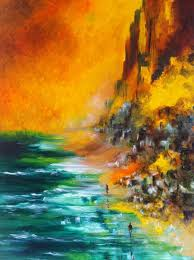 title yellow skies oil on canvas size 36 x 24 inches