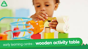 early learning centre wooden activity table  mothercare  youtube