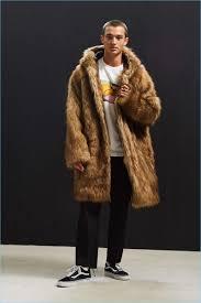 uo hooded long faux fur coat