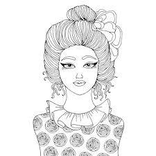 Disegno Alla Moda Ragazza Ritratto Suo Ciuffo Di Capelli Stile