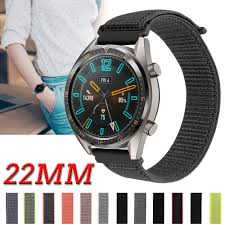 For Huawei Watch GT 46mm GT 2 GT2 Honor Magic Watch 2 Pro / 2 Classic 22mm  woven nylon watchband sport canvas strap watch band|Watchbands
