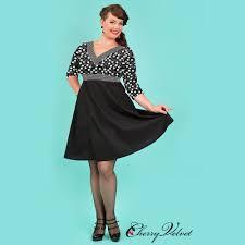 Cherry Velvet Priscilla Black Dice Dress | Kitty Canuck | Plus Size  Clothing Canada