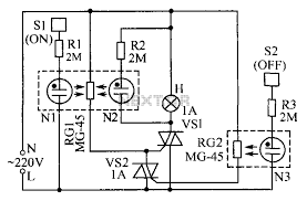 lamp touch switch circuit diagram