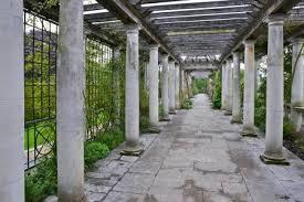 garden columns.  Garden Entry Of Concrete Columns The Garden Stock Photo  24674239 In Garden Columns A