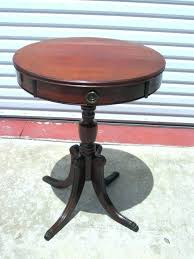 sidetables antique round side table tables small pedestal circle vintage r
