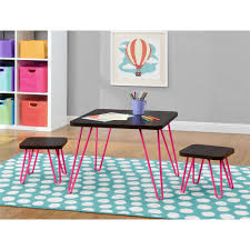 retro kids furniture. betty retrostyle kids table and stools set espressopink walmartcom retro furniture