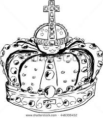 sketch of royal crown worn by swedish queen lovisa ulrika in the 18th century