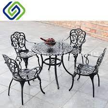 4 seater cast aluminum patio table