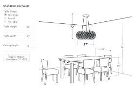 dining table chandelier height chandelier for dining