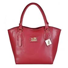 Coach North South Logo Medium Red Satchels DWG