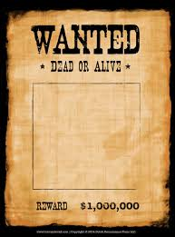 Wanted Poster Template Another high caliber wanted poster template Reprinted in shades of 1