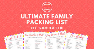 Packing Lists Archives Tear Free Travel