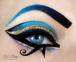 cleopatra eyes egyptian inspired creative eye makeup