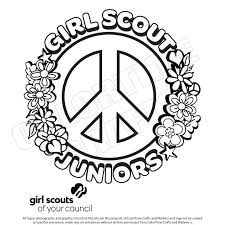 Coloring Coloring Pages For Girl Scouts Daisy Scout Cookie The Free
