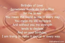 husband birthday poems
