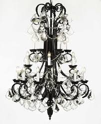 furniture extraordinary black wrought iron chandelier with crystals 9 amusing 13 b13724 black wrought iron chandelier