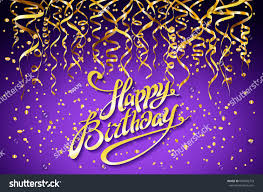 Vector Purple Party Background Happy Birthday Stock Vector Royalty