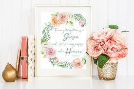 Free Spring Free Spring Printable Ecclesiastes 3 1 The Harper House