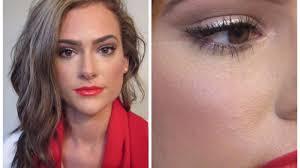 natural glam holiday makeup tutorial