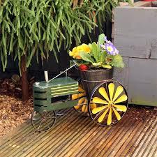 decorative garden wagon planter garden planter metal tractor indoor outdoor decoration gardening gift decorative garden cart decorative garden wagon