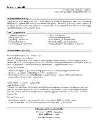 Free Edit Employment History And Profile Objective For Loan Officer Resume  Sample