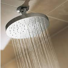 water coming out of bathtub faucet and shower head