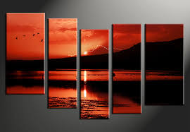 5 piece canvas prints. Contemporary Prints 5 Piece Canvas Print Home Decor Artwork Ocean Photo Canvas Landscape  Photography With Piece Canvas Prints S