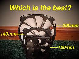 how to measure fan size what is the best pc fan size 2015 youtube
