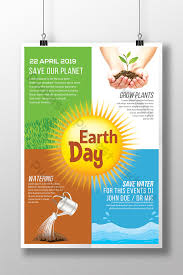Contrasted Sunshine Earth Day Psd Flyer Template Template