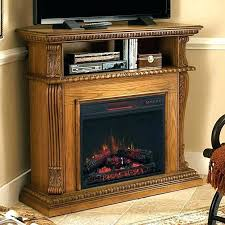 large corner electric fireplace infrared fireplaces at berkeley tv stand w glass in spanish gray firepl