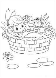 Small Picture Moses Baby Moses was Safe in His Basket Boat Coloring Page