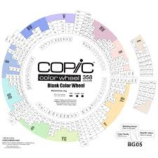 It also includes a blank swatch chart and mini color wheel worksheet that you can fill out with any brand of colored pencils, gel pens or markers. A Blank Version Of The Copic Colour Wheel Copic