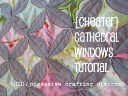 ocd: obsessive crafting disorder: Tutorial: Cheater Cathedral Windows & Tutorial: Cheater Cathedral Windows Adamdwight.com