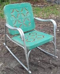 antique metal outdoor furniture. vintage metal rocker with cutouts antique outdoor furniture