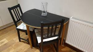 habitat round foldable dining table 4 seating