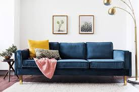 This rather large love seat is made with a sturdy hardwood frame and five wooden block legs for good balance and support. 10 Best Apartment Sized Sofas For Every Style Hgtv