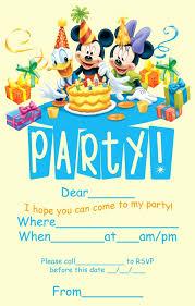Disney Birthday Card Printable Elegant Disney Invitations Birthday